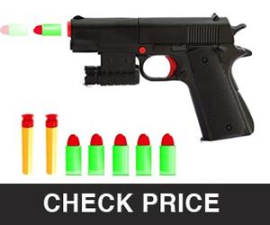Pinovk Kid Toy Rubber Bullet Mini Pistols